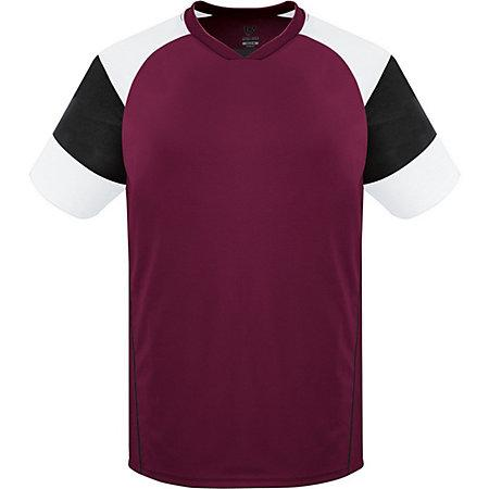 Munro Jersey Maroon/black/white Adult Single Soccer & Shorts