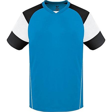 Munro Jersey Power Blue/white/black Adult Single Soccer & Shorts