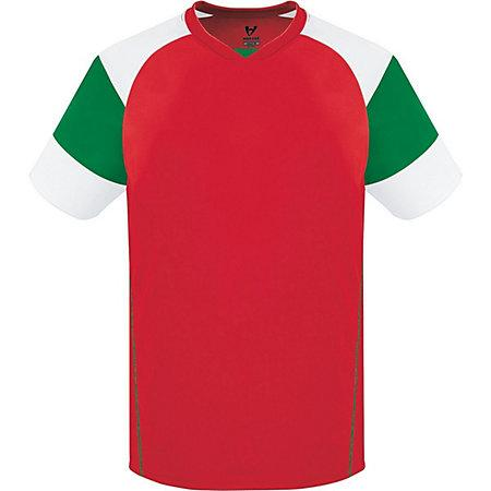 Munro Jersey Scarlet/kelly/white Adult Single Soccer & Shorts