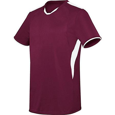 Globe Jersey Maroon / white Adult Single Soccer y Shorts
