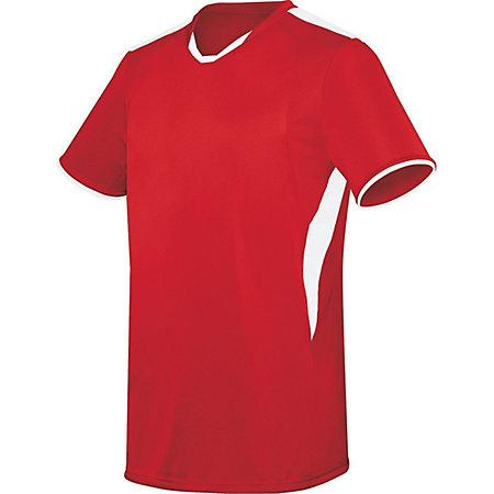 Globe Jersey Scarlet / white Adult Single Soccer & Shorts