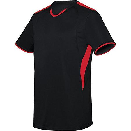 Globe Jersey Black/scarlet Adult Single Soccer & Shorts