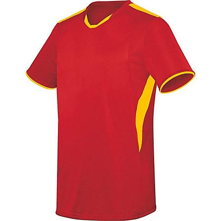 Globe Jersey Scarlet/athletic Gold Adult Single Soccer & Shorts