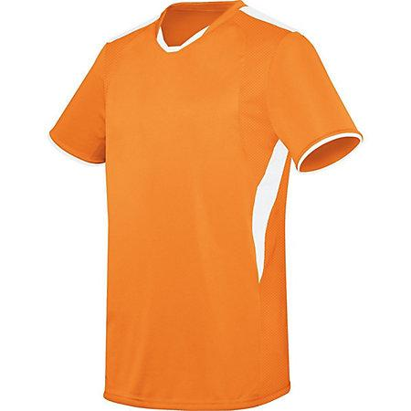 Globe Jersey Power Orange/white Adult Single Soccer & Shorts