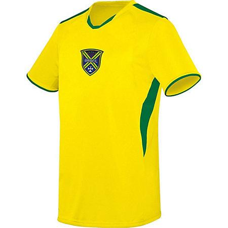 Adult Globe International Jersey Brazil Single Soccer & Shorts