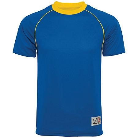 Conversión Jersey reversible Royal / athletic Gold Adult Single Soccer y pantalones cortos