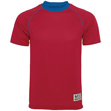 Conversión Jersey reversible Scarlet / royal Adult Single Soccer y Shorts