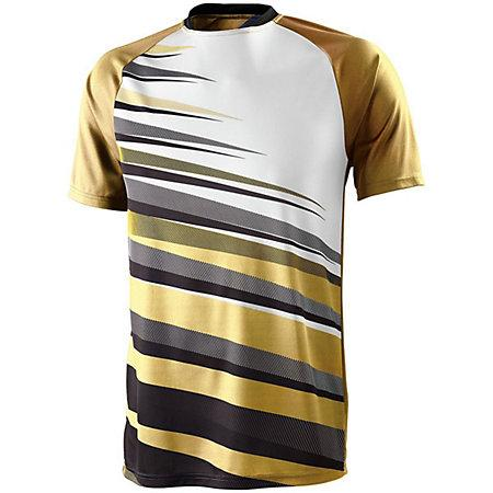 Youth Galactic Jersey Athletic Gold/black/white Single Soccer & Shorts