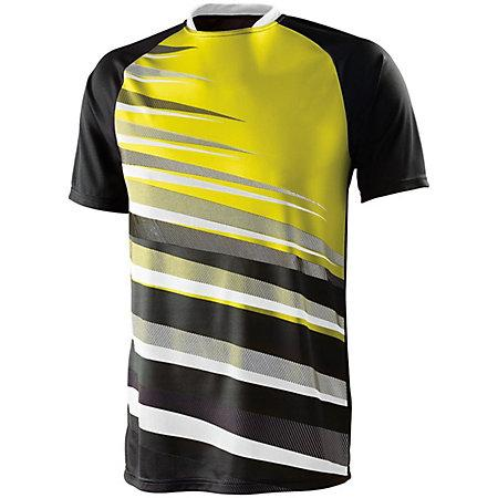 Youth Galactic Jersey Black/white/power Yellow Single Soccer & Shorts