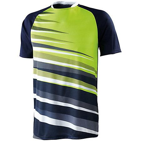 Youth Galactic Jersey Navy/white/lime Single Soccer & Shorts