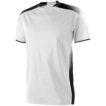 Adult Ionic Soccer Jersey White/black Single & Shorts