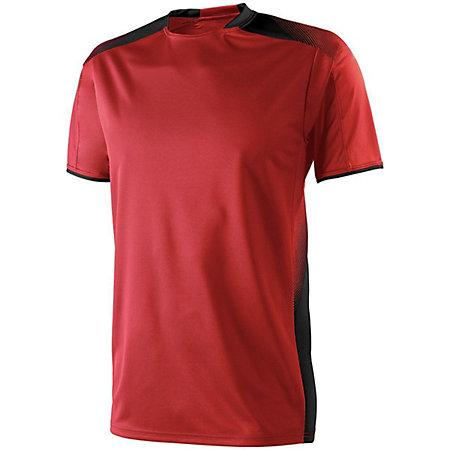 Adult Ionic Soccer Jersey Scarlet/black Single & Shorts
