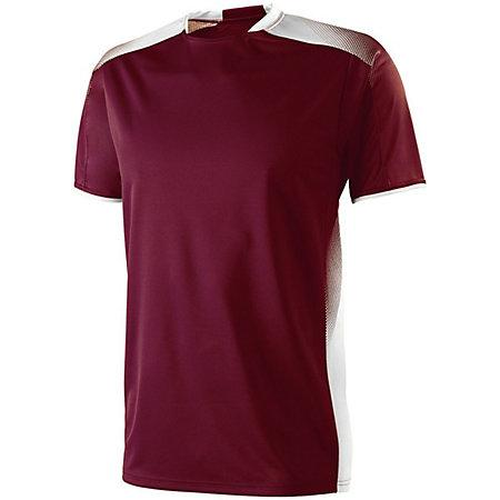 Youth Ionic Soccer Jersey Maroon / white Single Jersey & Shorts