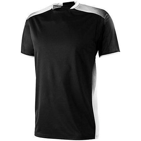 Youth Ionic Soccer Jersey Negro / blanco Single Jersey & Shorts