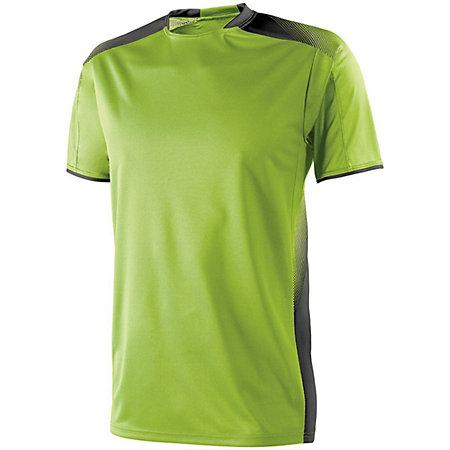 Youth Ionic Soccer Jersey Lime / black Single Jersey y pantalones cortos