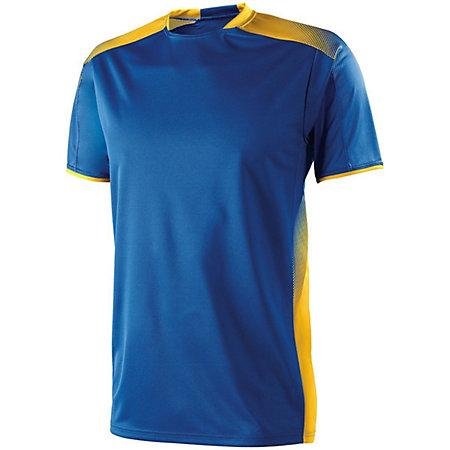 Youth Ionic Soccer Jersey Royal / athletic Gold Single Jersey y pantalones cortos