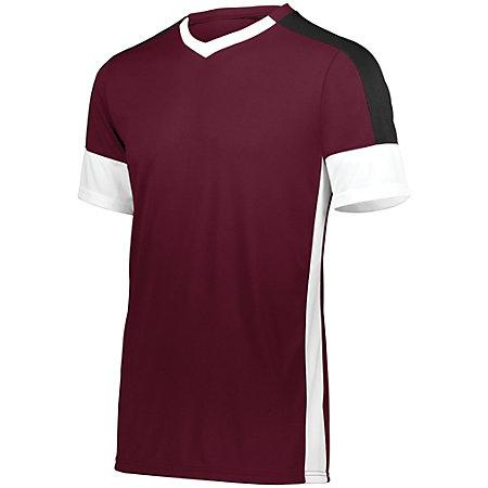 Wembley Soccer Jersey Maroon/white/black Adult Single & Shorts