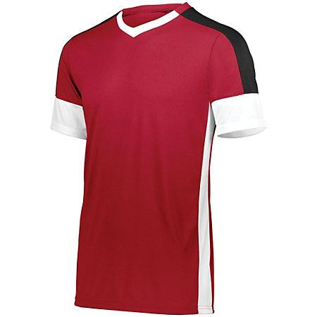 Wembley Soccer Jersey Scarlet/white/black Adult Single & Shorts