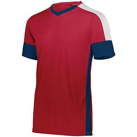 Wembley Soccer Jersey Scarlet/navy/white Adult Single & Shorts