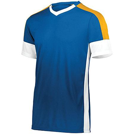 Wembley Soccer Jersey Royal/white/athletic Gold Adult Single & Shorts