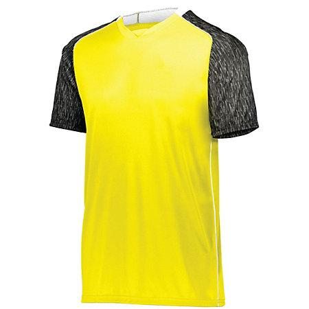 Hawthorn Soccer Jersey Power Yellow/black Print/white Adult Single & Shorts