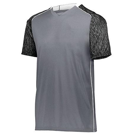 Hawthorn Soccer Jersey Graphite/black Print/white Adult Single & Shorts