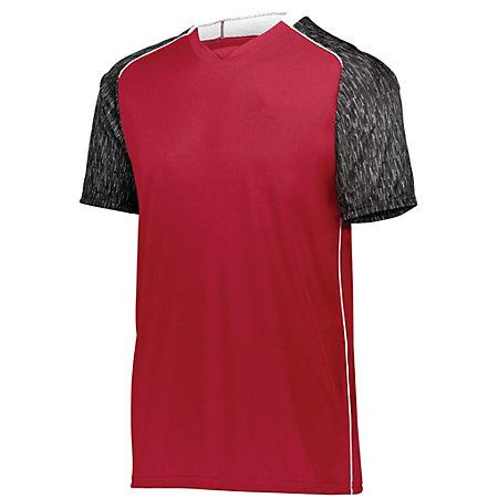 Hawthorn Soccer Jersey Scarlet/black Print/white Adult Single & Shorts