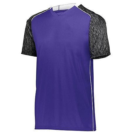 Hawthorn Soccer Jersey Purple/black Print/white Adult Single & Shorts