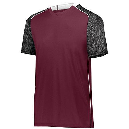 Hawthorn Soccer Jersey Maroon/black Print/white Adult Single & Shorts