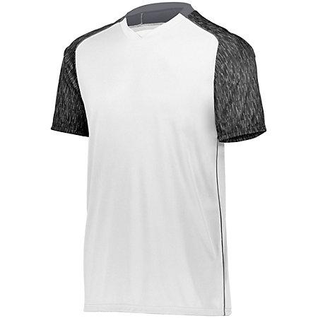 Hawthorn Soccer Jersey White/black Print/graphite Adult Single & Shorts
