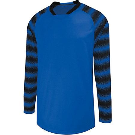 Prism Goalkeeper Jersey Power Blue/black Adult Single Soccer & Shorts