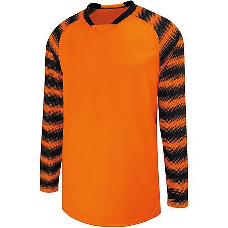 Prism Goalkeeper Jersey Orange/black Adult Single Soccer & Shorts