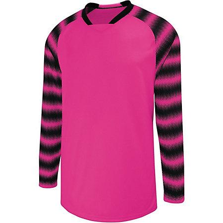 Prism Goalkeeper Jersey Raspberry/black Adult Single Soccer & Shorts