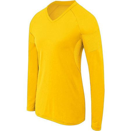 Girls Long Sleeve Raptor Jersey Athletic Gold/athletic Gold Youth Volleyball