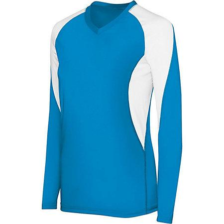 Girls Long Sleeve Court Jersey Youth Volleyball
