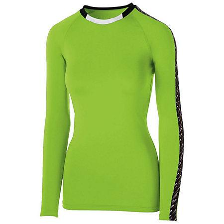Girls Spectrum Long Sleeve Jersey Lime/black/white Youth Volleyball