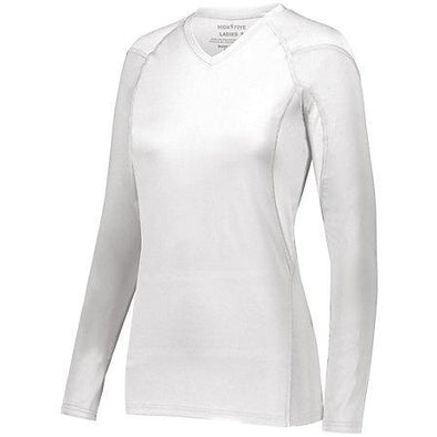 Ladies Truth Long Sleeve Jersey White Adult Volleyball