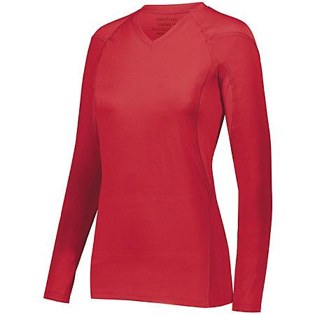 Ladies Truth Long Sleeve Jersey Scarlet Adult Volleyball