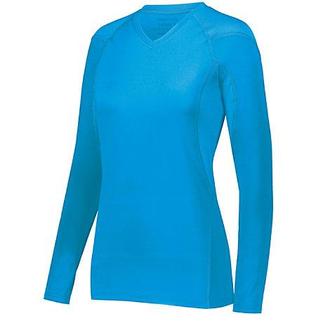 Ladies Truth Long Sleeve Jersey Power Blue Adult Volleyball