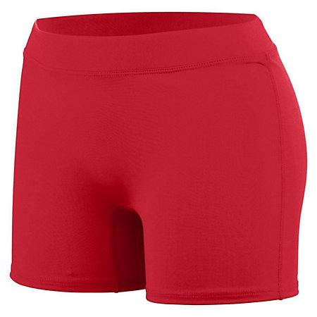 Ladiesh Knock Out Shorts Scarlet Adult Volleyball