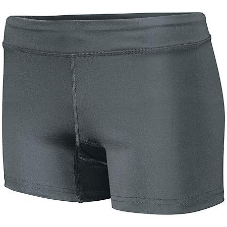 Girls Truth Volleyball Shorts Graphite Youth