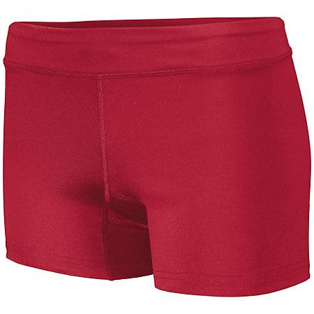 Girls Truth Volleyball Shorts Scarlet Youth