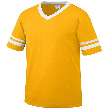 Sleeve Stripe Jersey Gold/white Adult Baseball