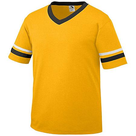 Sleeve Stripe Jersey Gold/black/white Adult Baseball