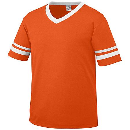 Sleeve Stripe Jersey Orange/white Adult Baseball
