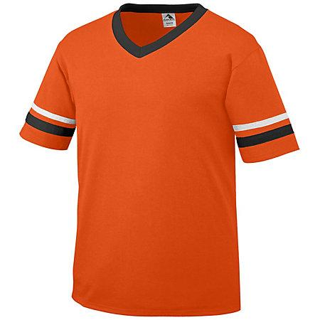 Sleeve Stripe Jersey Orange/black/white Adult Baseball