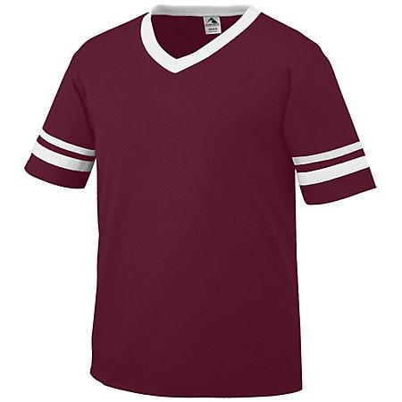 Sleeve Stripe Jersey Maroon/white Adult Baseball