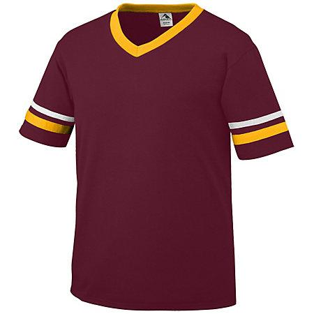 Sleeve Stripe Jersey Maroon/gold/white Adult Baseball