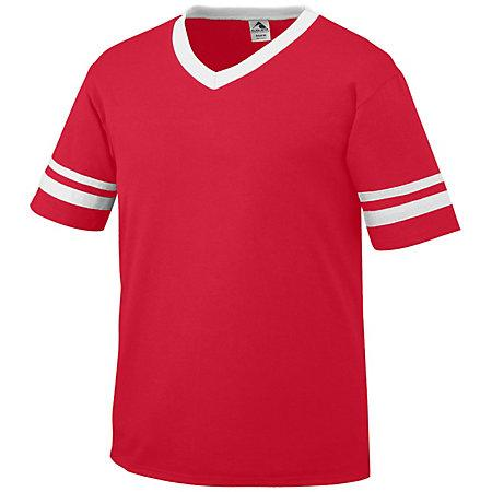Sleeve Stripe Jersey Red/white Adult Baseball