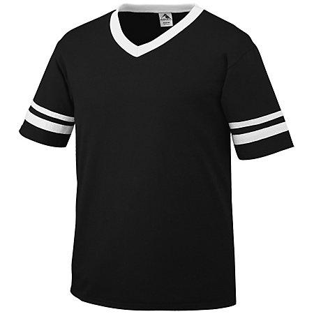 Sleeve Stripe Jersey Black/white Adult Baseball